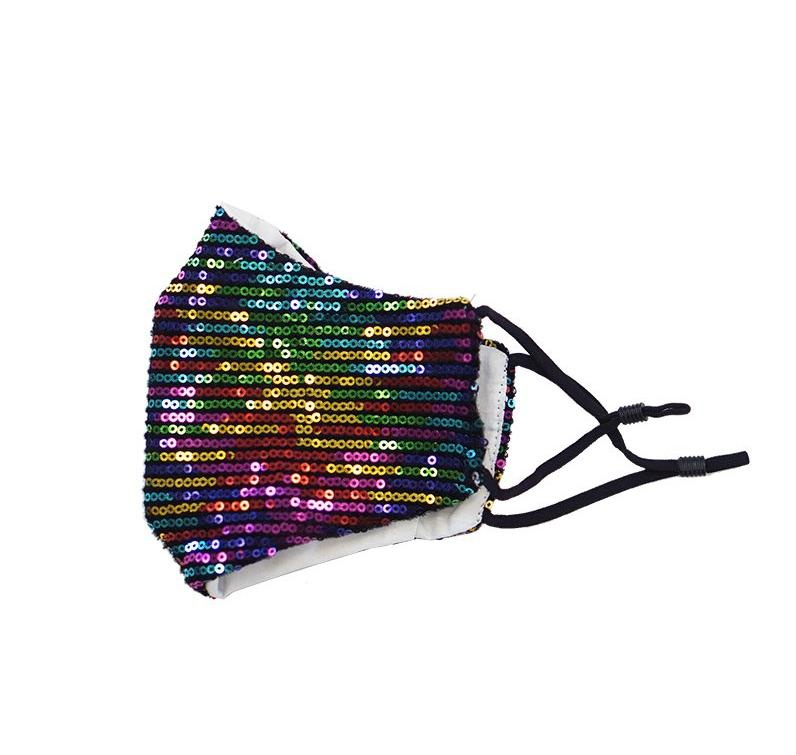 Adult Sequin Mask - Sparkly Rainbow - ARIA KIDS