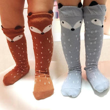 Fox Pull Up Socks - Fall Brown & Gray - ARIA KIDS