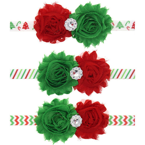 Red/Green - Christmas Baby Headbands - 3 options - ARIA KIDS