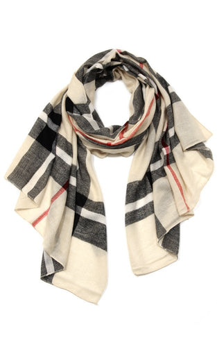 Women's Allison Plaid Scarf - ARIA KIDS