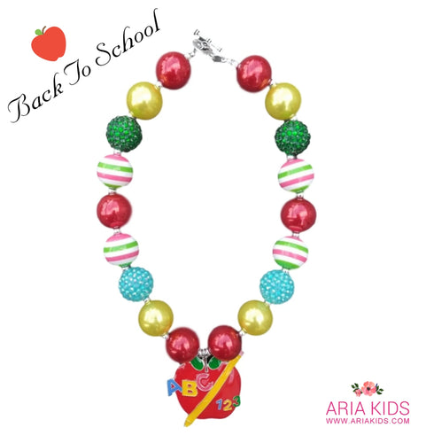 ABC Apple Back To School Necklace - ARIA KIDS