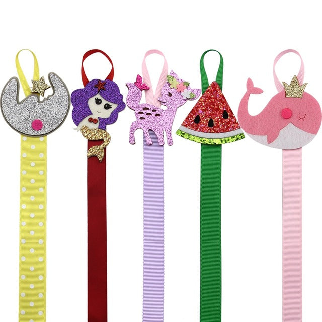 Glitter Hair Clip Holders - Gift for Her - Moon, Mermaid, Deer, Watermelon, Whale - ARIA KIDS