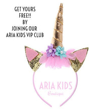 "Pink ""My Unicorn Princess"" Floral Tutu Dress (RTS) - ARIA KIDS"