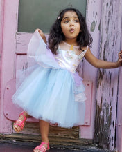 "Sky Blue ""My Unicorn Princess"" Floral Tutu Dress - ARIA KIDS"