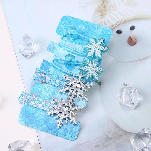 Frozen Inspired Hair Tie & Hair Clip 4-Piece Set - ARIA KIDS