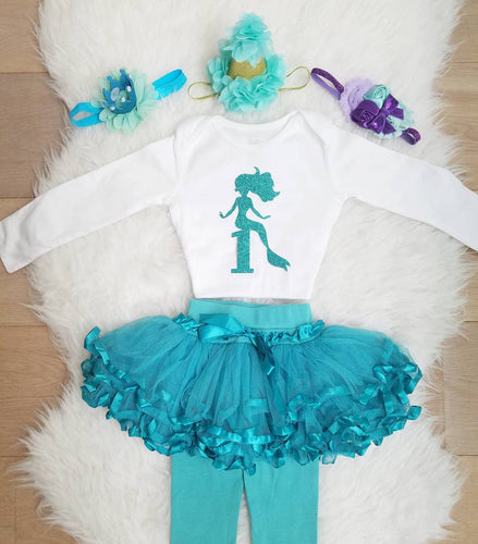 Little Mermaid 1st Birthday Baby Outfit - ARIA KIDS