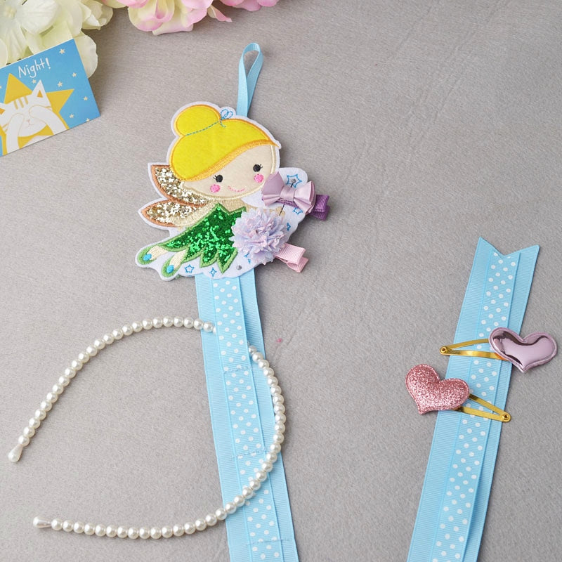 Blue Fairy Dust Hair Clip Holder Organizer - ARIA KIDS
