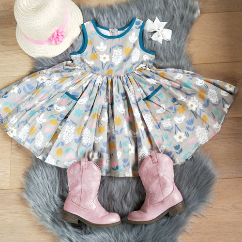Angelica Twirl Cotton Easter Dress - RESTOCKED! - ARIA KIDS