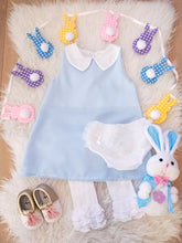 """Angel"" Dress - Vintage Gingham Pink & Blue - ARIA KIDS"