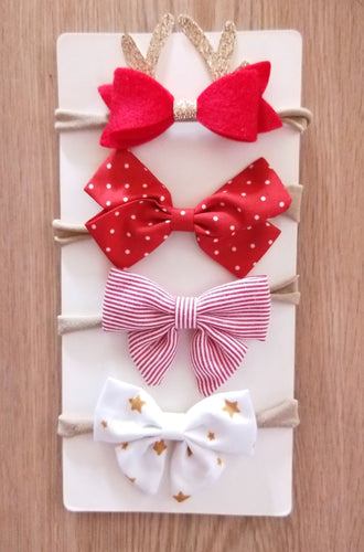 Christmas Baby Headband Gift Set of 4 - ARIA KIDS