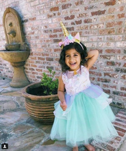 "Mint ""My Unicorn Princess"" Floral Tutu Dress - ARIA KIDS"