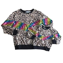 Mommy and Me Leopard Rainbow Sequin Shirts - ARIA KIDS