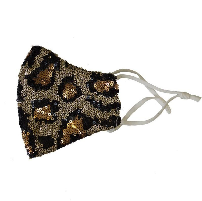 Adult Leopard Sequin Mask - ARIA KIDS