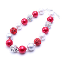 """Robin"" Mommy and Me Chunky Necklace Christmas Gift in Red - ARIA KIDS"