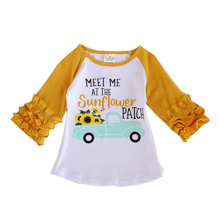Meet Me at The Sunflower Patch Raglan Shirt - ARIA KIDS