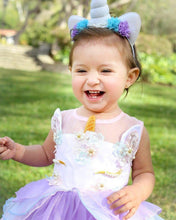 "Purple ""My Unicorn Princess"" Floral Tutu Dress - ARIA KIDS"