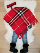 "5"" Buffalo Plaid Red Hair Bow Clip - ARIA KIDS"
