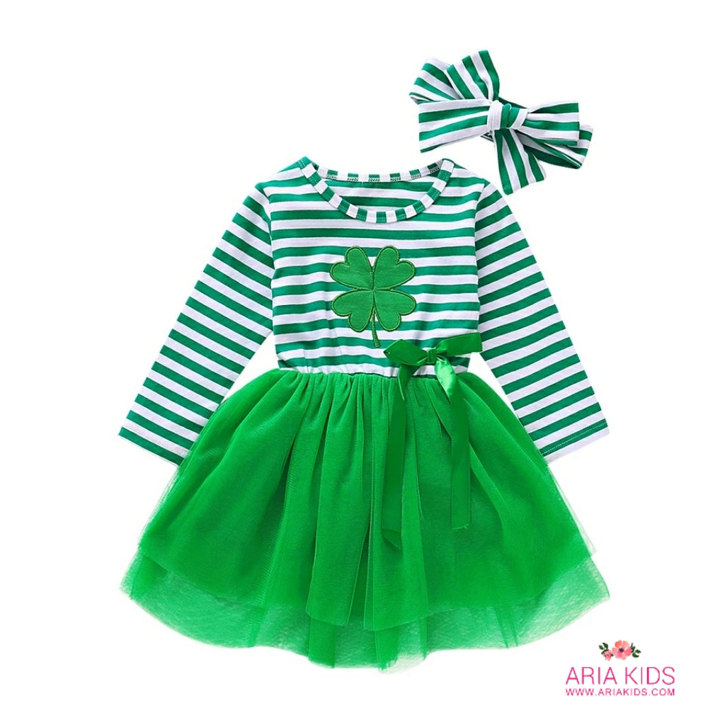 Lucky Green Clover Tutu Dress - ARIA KIDS