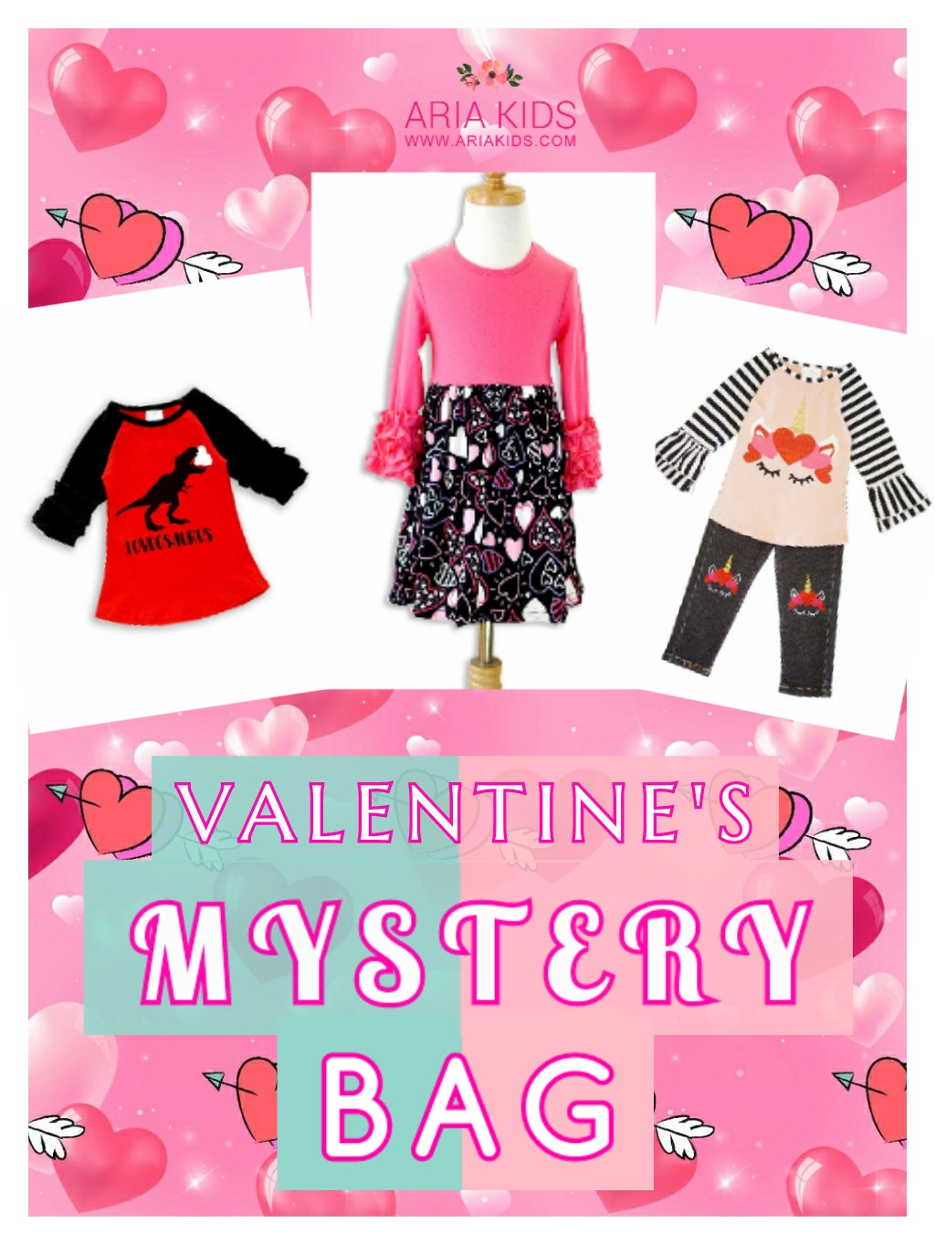 VALENTINES DAY MYSTERY BAG - 2 Outfits (FREE Shipping) - ARIA KIDS