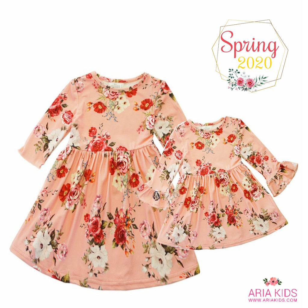 April Mommy and Me Mother Daughter Dress - ARIA KIDS