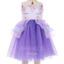 Halloween Unicorn Dress in Purple - ARIA KIDS