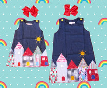 """Let's Play House"" Denim Dress - ARIA KIDS"