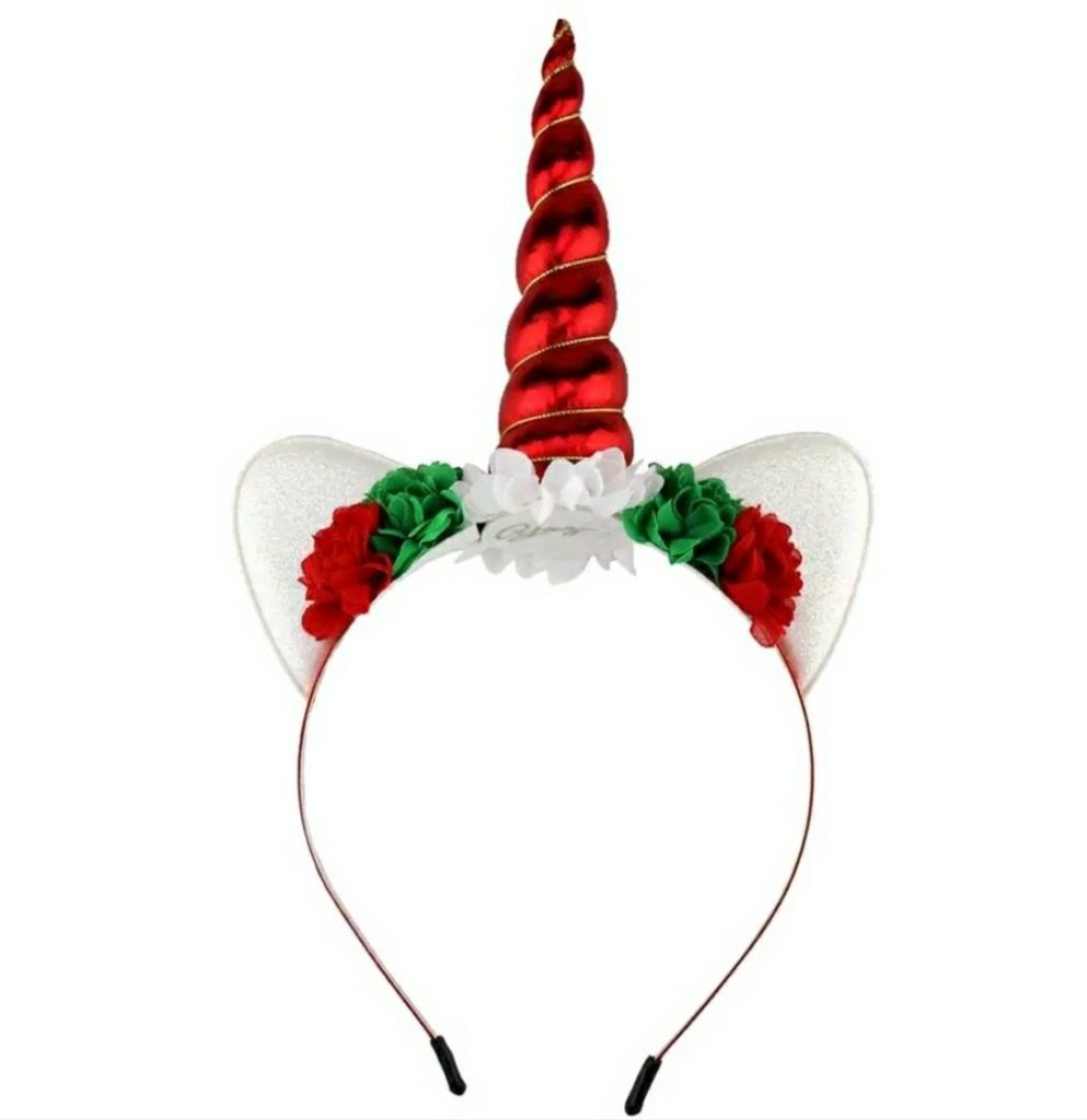 Christmas Unicorn Headband - ARIA KIDS