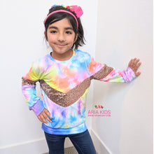 Mommy and Me Tie Dye Sequin Shirts - ARIA KIDS
