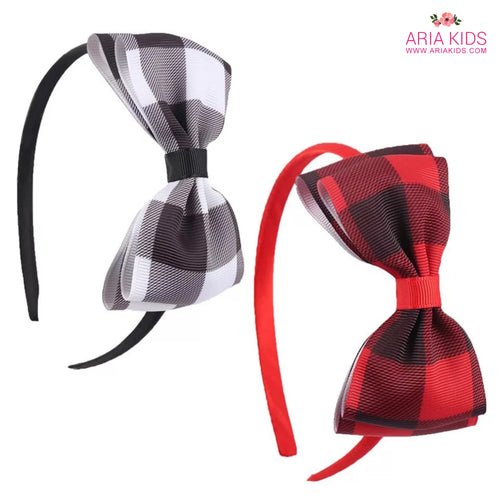 Buffalo Plaid Girls Headband - 2 Color options - ARIA KIDS