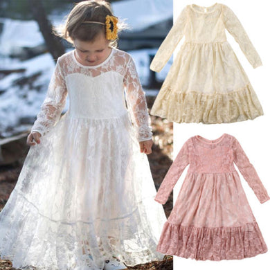 Shaila Lace Maxi Dress - 3 Colors - ARIA KIDS