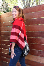 ARIA Red Plaid Poncho - Matching Mommy and Me 2-Pc Gift Set - ARIA KIDS