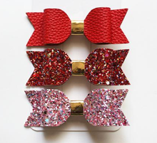 GLITTER HAIR BOW 3-PIECE GIFT SETS - 11 COLORS!! - ARIA KIDS