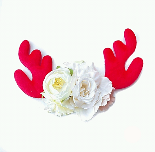 Red/White Reindeer Christmas Headband - Ready to Ship - ARIA KIDS