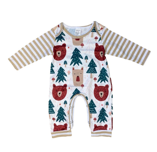 Forest Bear Friends Unisex Baby Romper - ARIA KIDS
