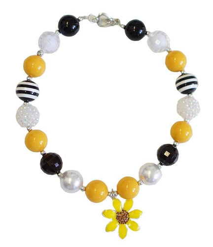 Sunflower Pendant Chunky Necklace - ARIA KIDS