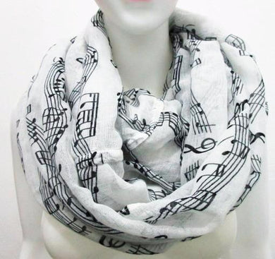 Music Notes Ladies Infinity Scarf - ARIA KIDS