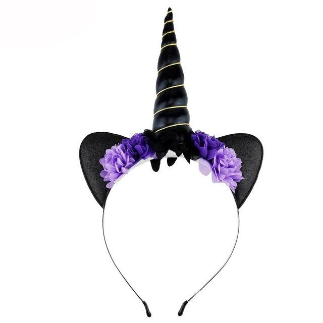 Halloween Unicorn Floral Headband - ARIA KIDS