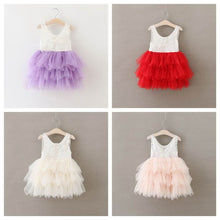 """Catherine"" Floral Lace Tutu Dress - Pink - ARIA KIDS"