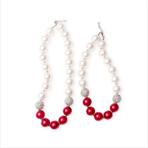 Camellia Mommy & Me Matching Chunky Necklace in Red - ARIA KIDS