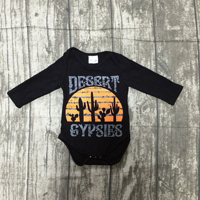 Desert Gypsies Baby Long Sleeve Onesie Bodysuit - ARIA KIDS