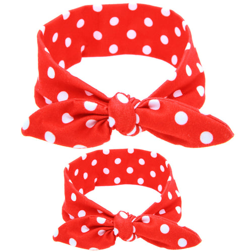 Mommy and Me Minnie Polka Dot Headband, 2-Pc Gift Set - ARIA KIDS