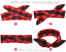 Buffalo Plaid Mommy and Me Headband 2-Pc Set - ARIA KIDS