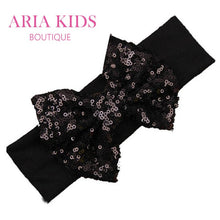 Baby Sequin Bow Headband - Pack of 5 Colors - ARIA KIDS