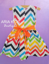 Rainbow Brite Chevron Dress - ARIA KIDS