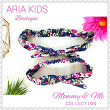 Navy Floral Mommy & Me Headband 2-Pc Set - ARIA KIDS