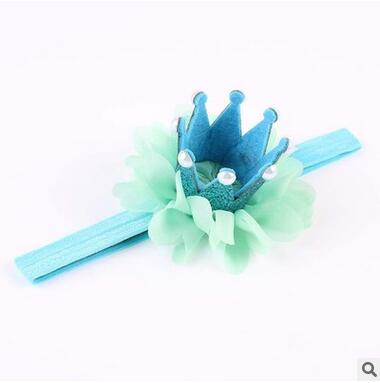 Mermaid Blue Pearl Glitter Crown Headband - ARIA KIDS