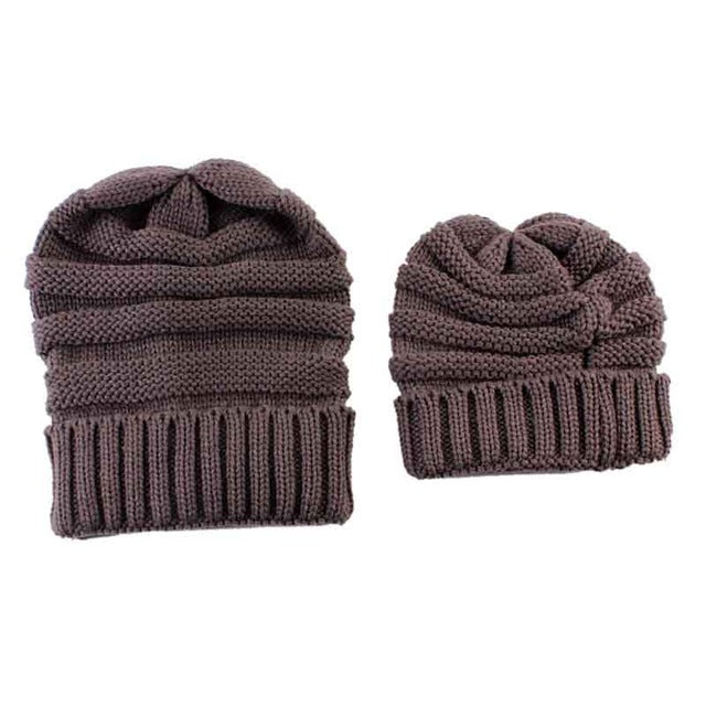 5a00a1eba67d6 ... SET OF 2 - Mommy and Me Matching Beanie Hats Cap - 8 Colors - ARIA ...