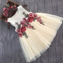 """Ella"" Luxury Lace Flower Girl Wedding Dress - Pink & Beige - ARIA KIDS"