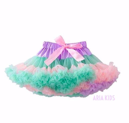 Pastel Rainbow Multi Tiered Fluffy Tutu Skirt - ARIA KIDS