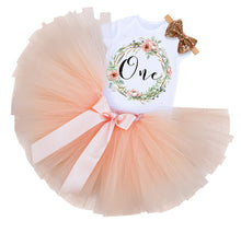 Floral Wreath 1st Birthday Tutu Outfit - ARIA KIDS
